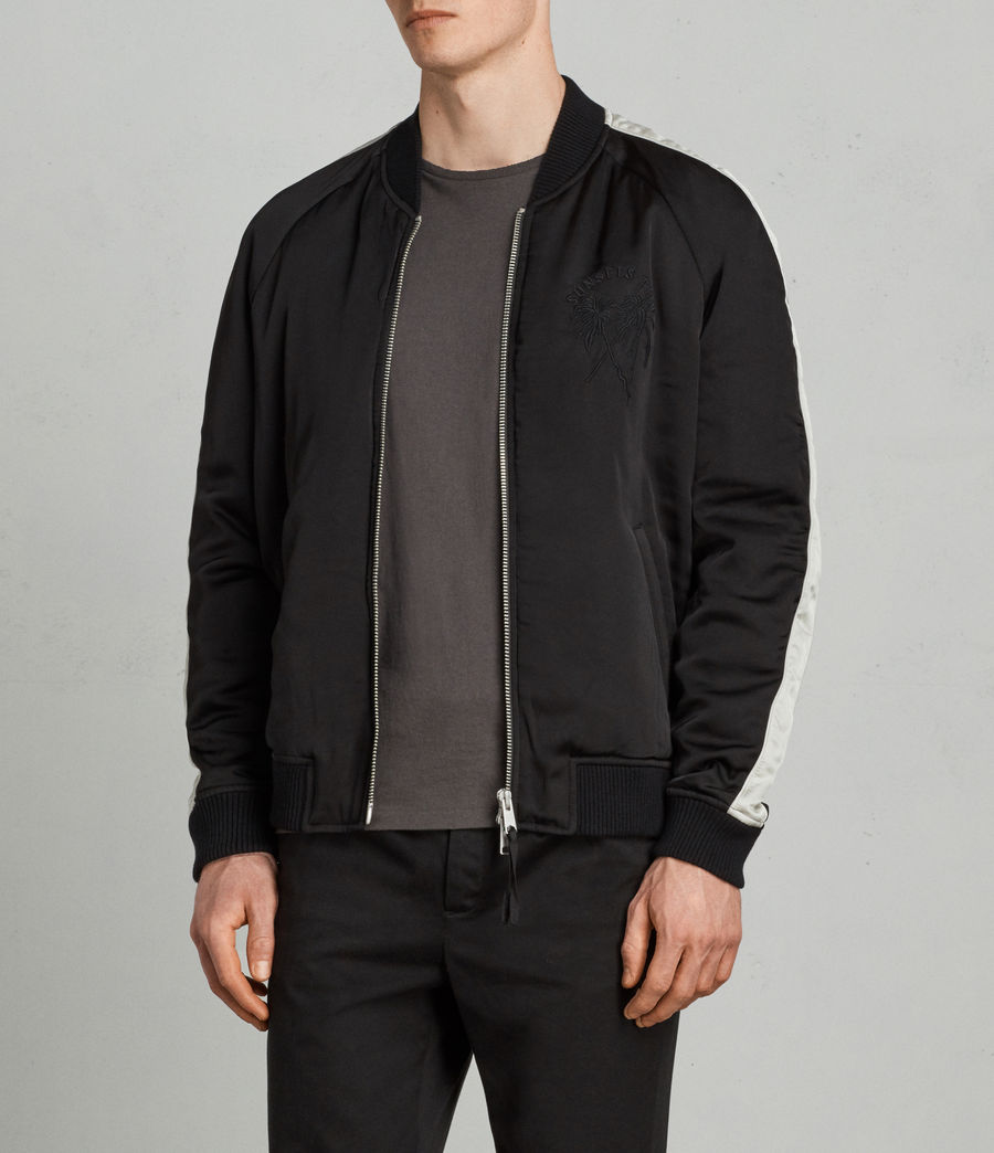 Men's Lucan Bomber Jacket (black_white) - Image 3
