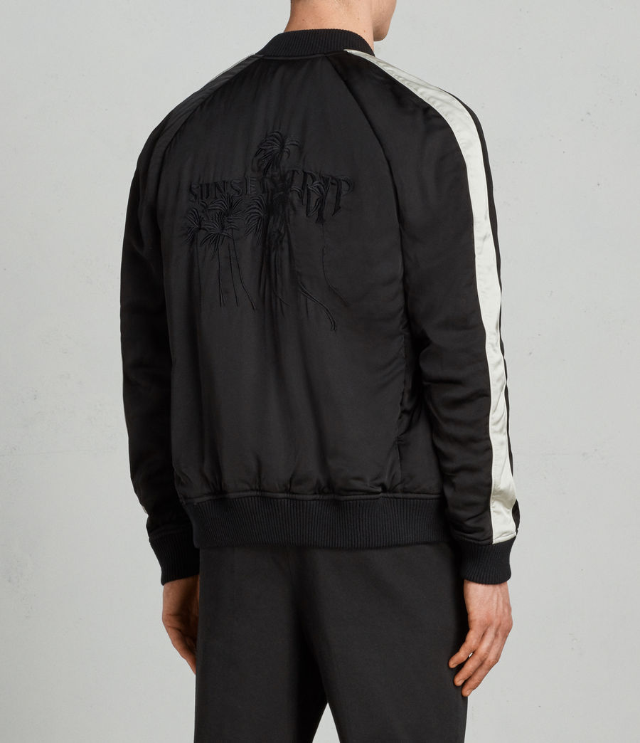Men's Lucan Bomber Jacket (black_white) - Image 4