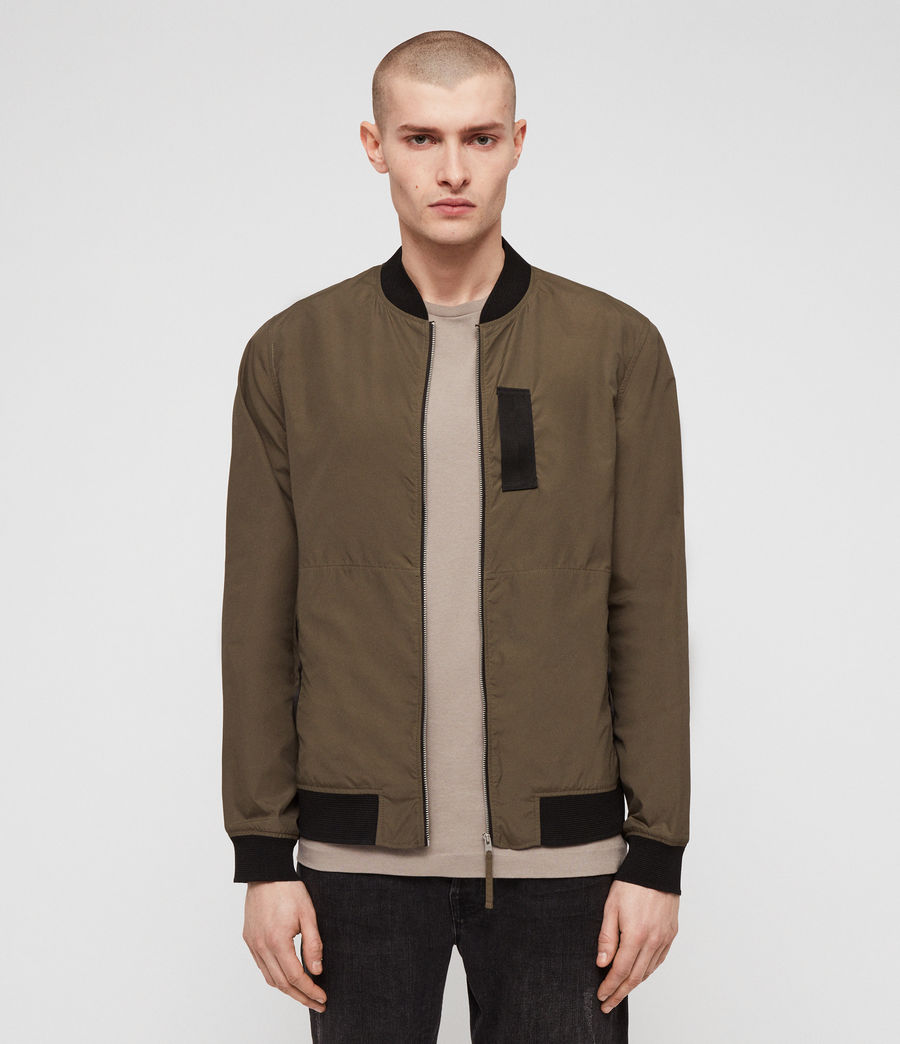 Men's Sonne Bomber Jacket (khaki_green) - Image 1