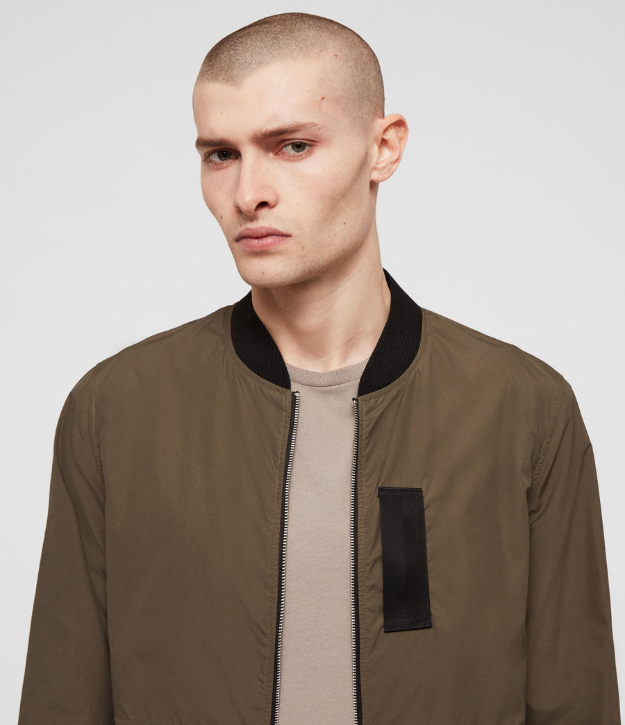 Men's Sonne Bomber Jacket (khaki_green) - Image 3
