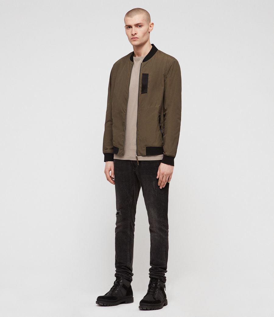 Men's Sonne Bomber Jacket (khaki_green) - Image 5