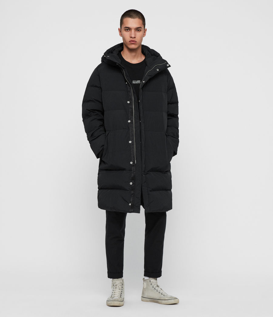 Men's Haddon Down Filled Puffer Coat (black) - Image 1