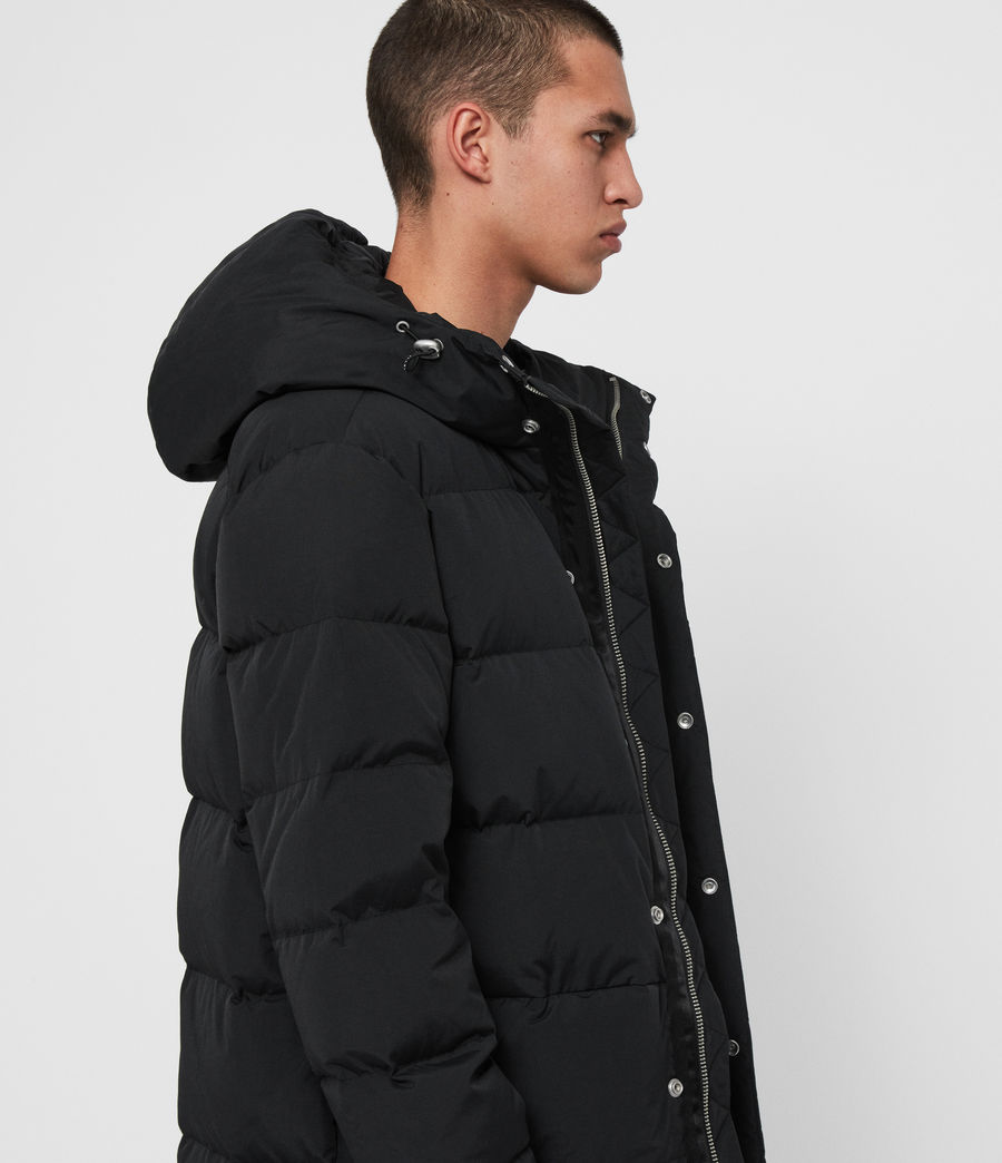 Men's Haddon Down Filled Puffer Coat (black) - Image 2