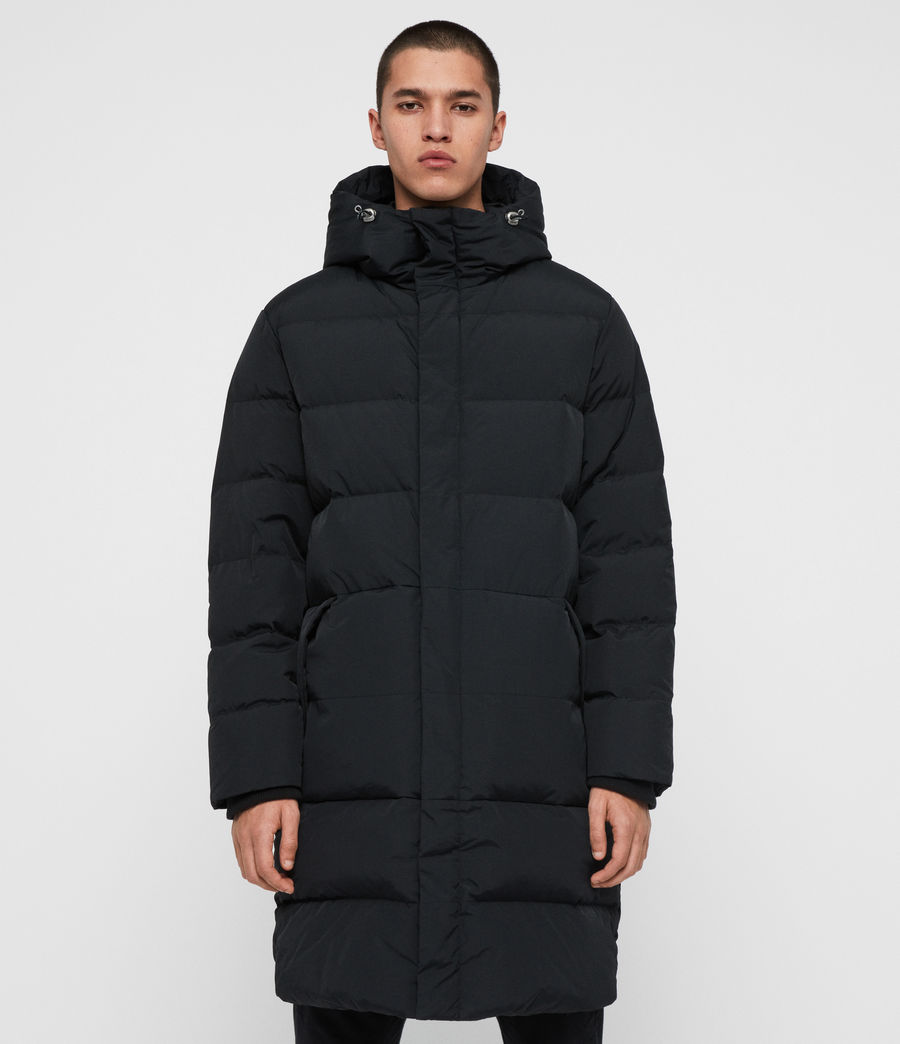 Men's Haddon Down Filled Puffer Coat (black) - Image 3