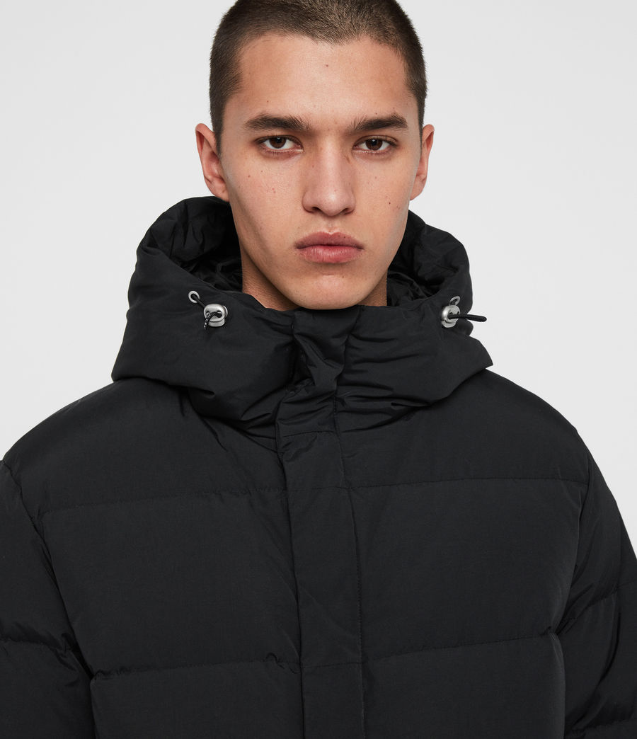 Men's Haddon Down Filled Puffer Coat (black) - Image 4