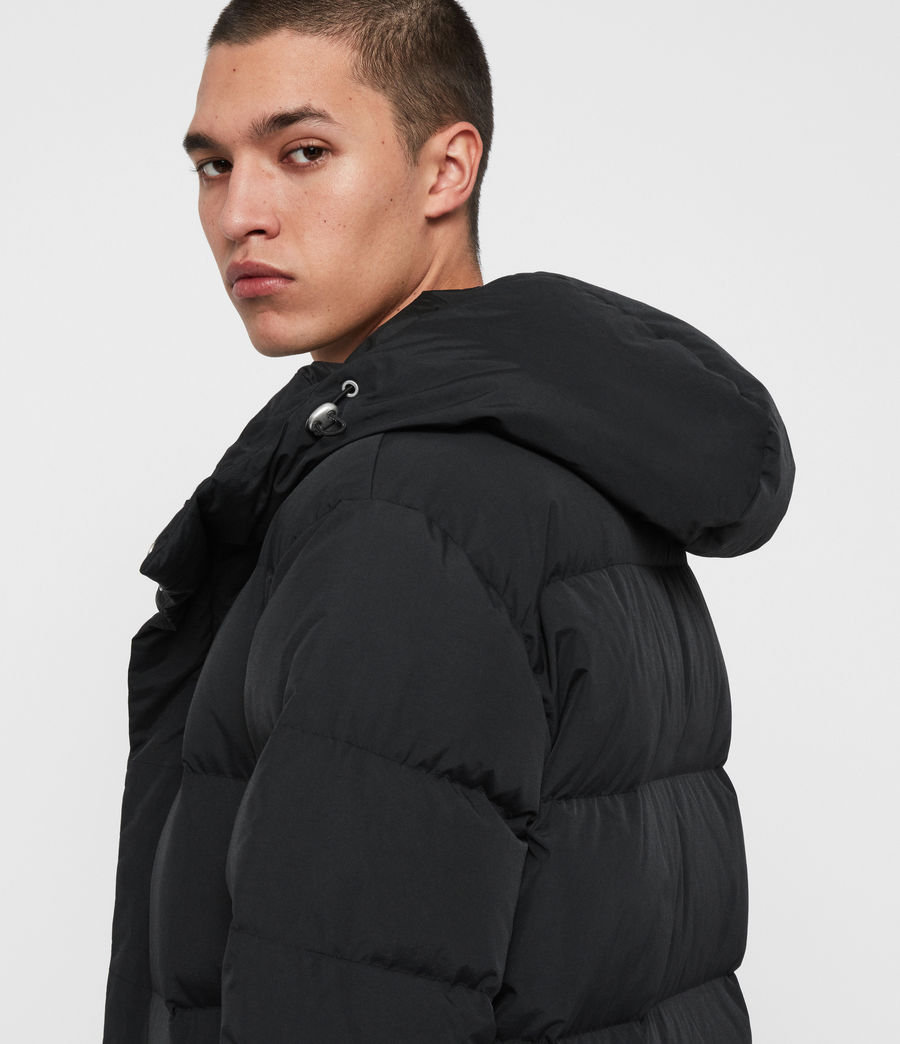 Men's Haddon Down Filled Puffer Coat (black) - Image 5