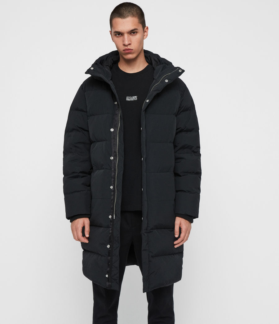 Men's Haddon Down Filled Puffer Coat (black) - Image 6