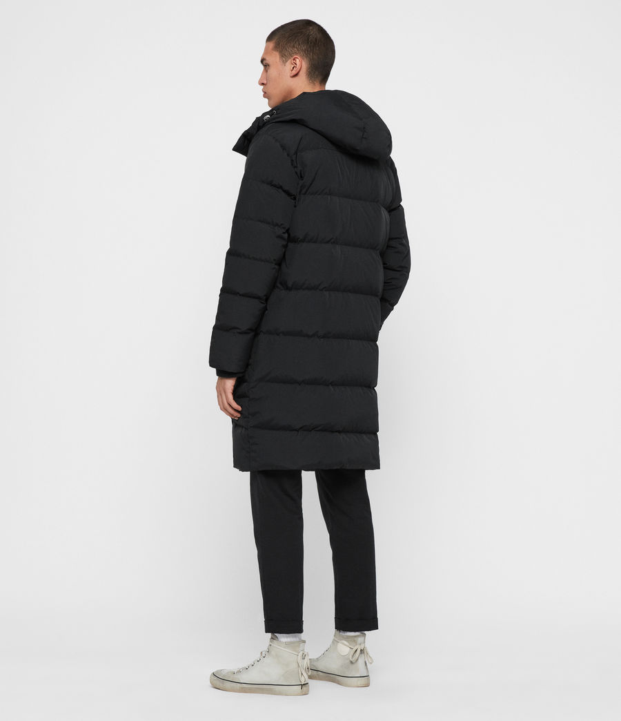 Men's Haddon Down Filled Puffer Coat (black) - Image 7