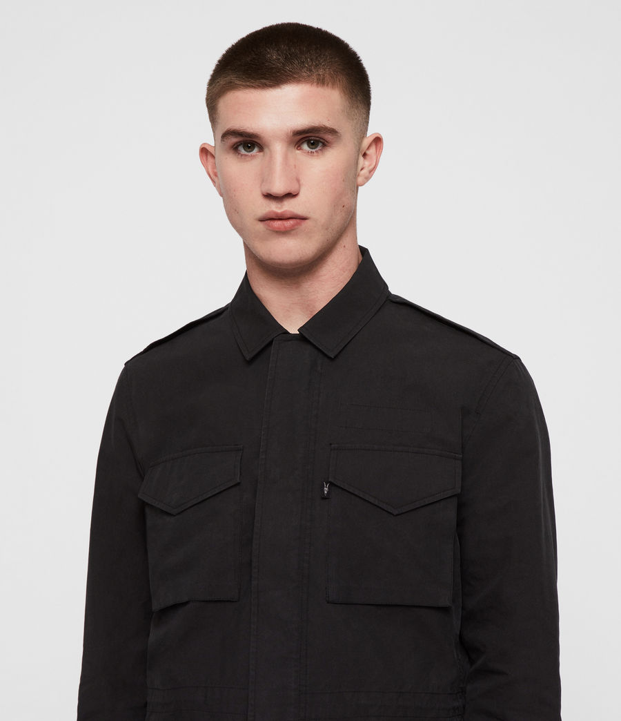 Men's Logan Jacket (washed_black) - Image 2