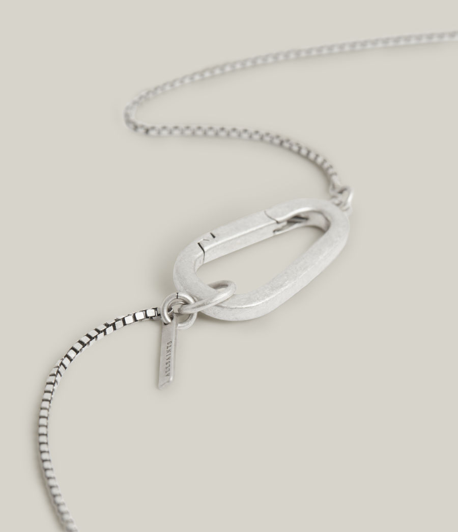 Men's Bodhi Sterling Silver Necklace (warm_silver) - Image 4