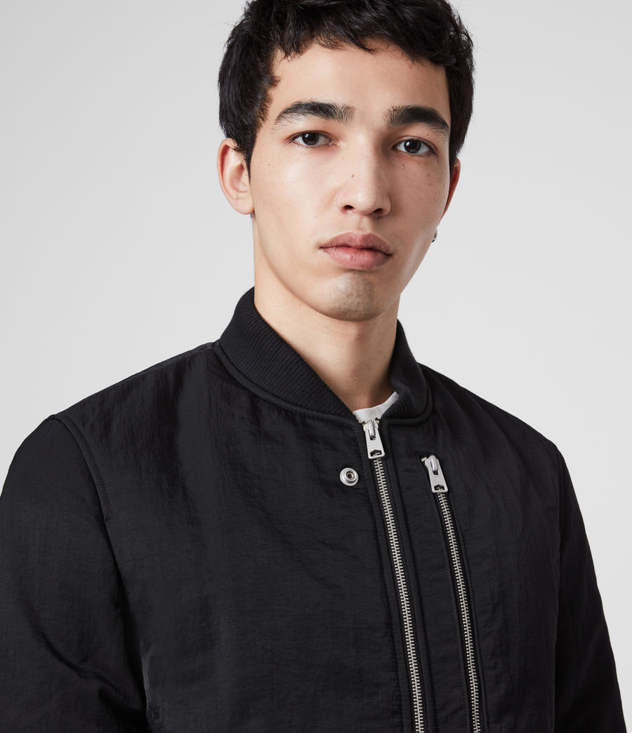Mens Walcot Bomber Jacket (black) - Image 2