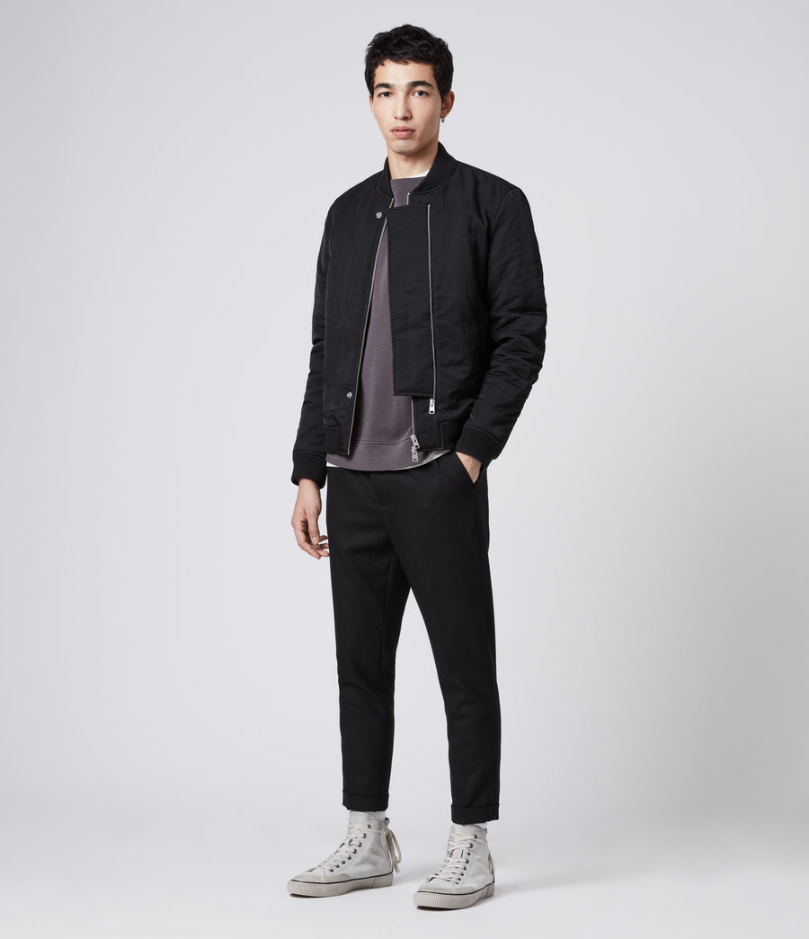 Mens Walcot Bomber Jacket (black) - Image 3