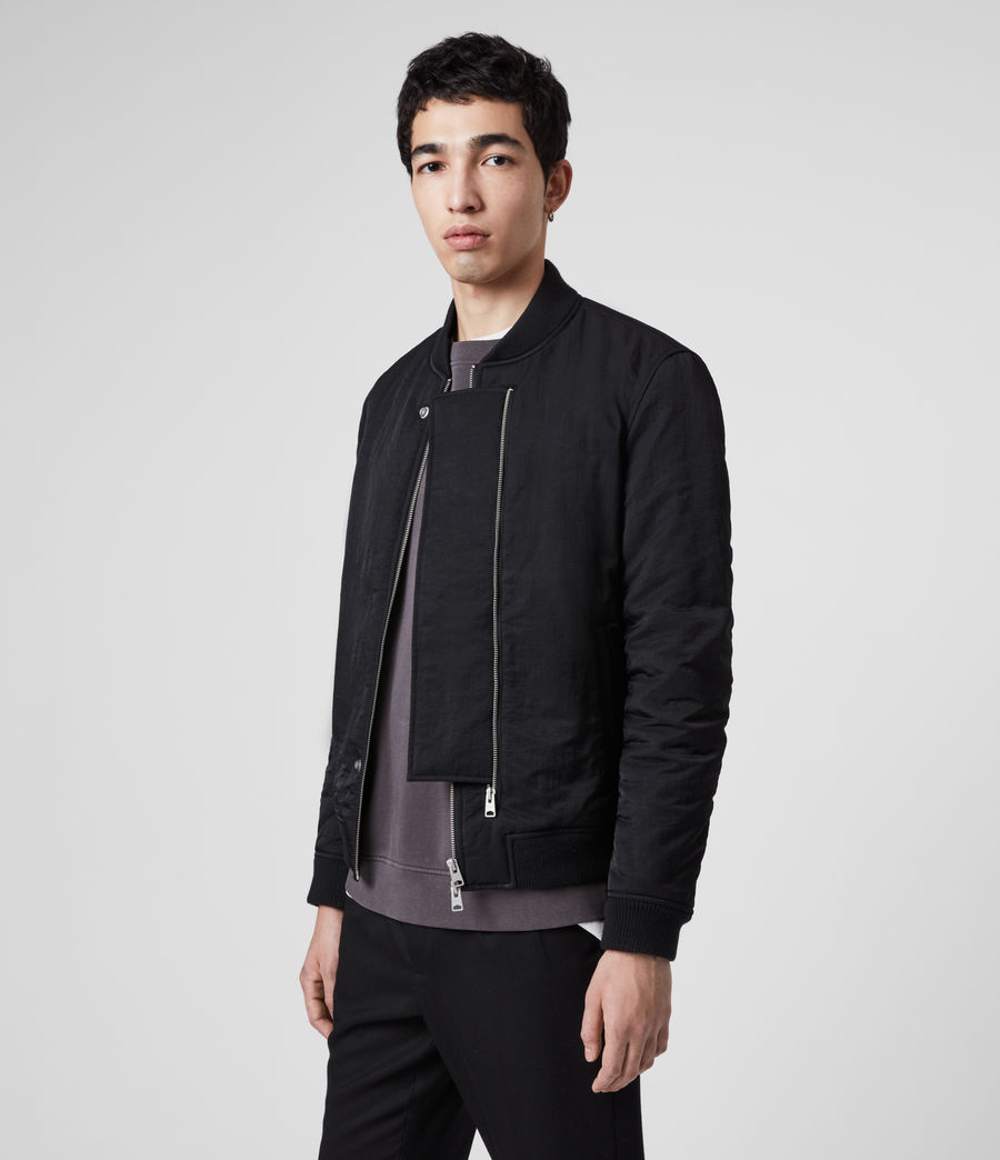 Mens Walcot Bomber Jacket (black) - Image 4