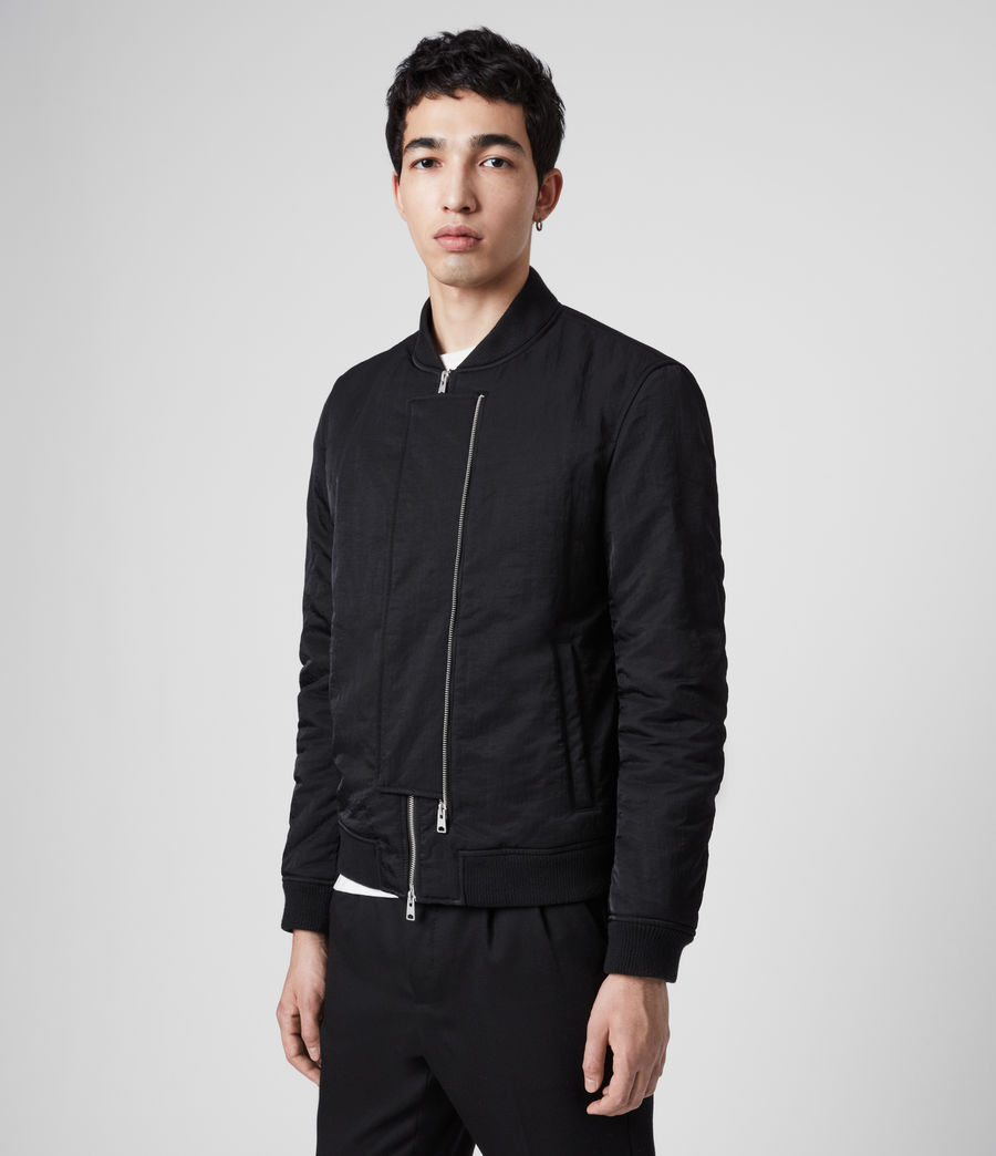 Mens Walcot Bomber Jacket (black) - Image 6
