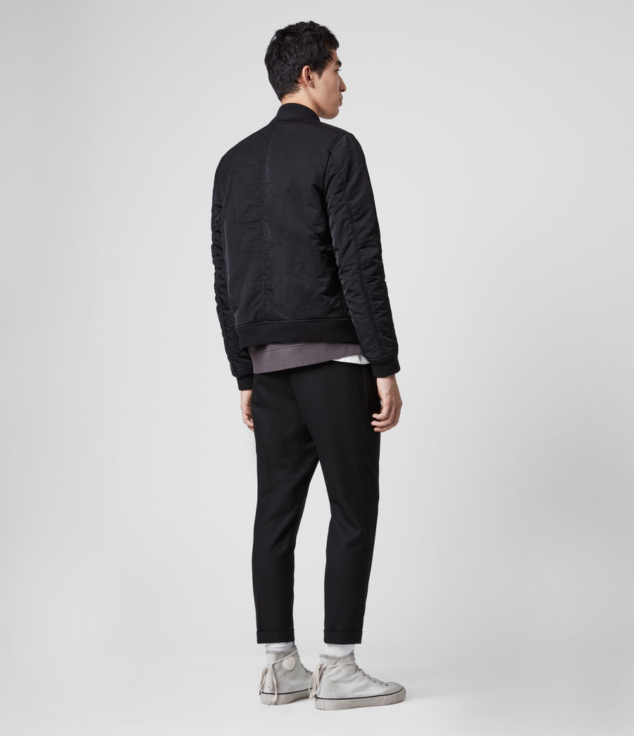 Mens Walcot Bomber Jacket (black) - Image 7
