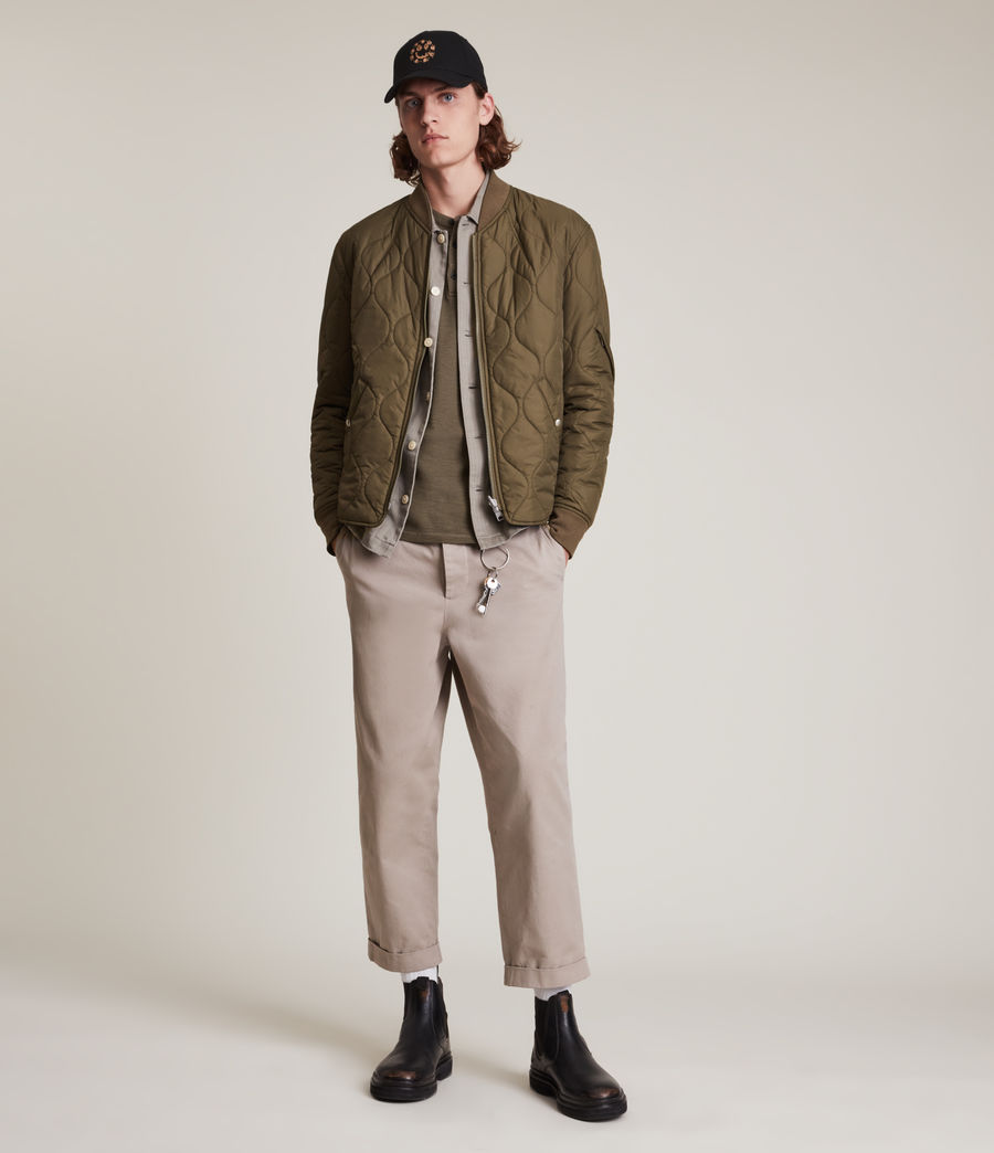 Mens Caldy Reversible Jacket (light_army_grn_blk) - Image 1