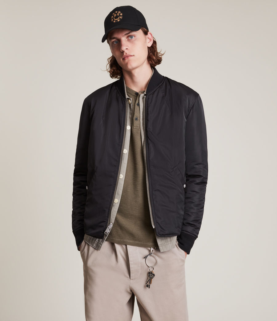 Mens Caldy Reversible Jacket (light_army_grn_blk) - Image 2