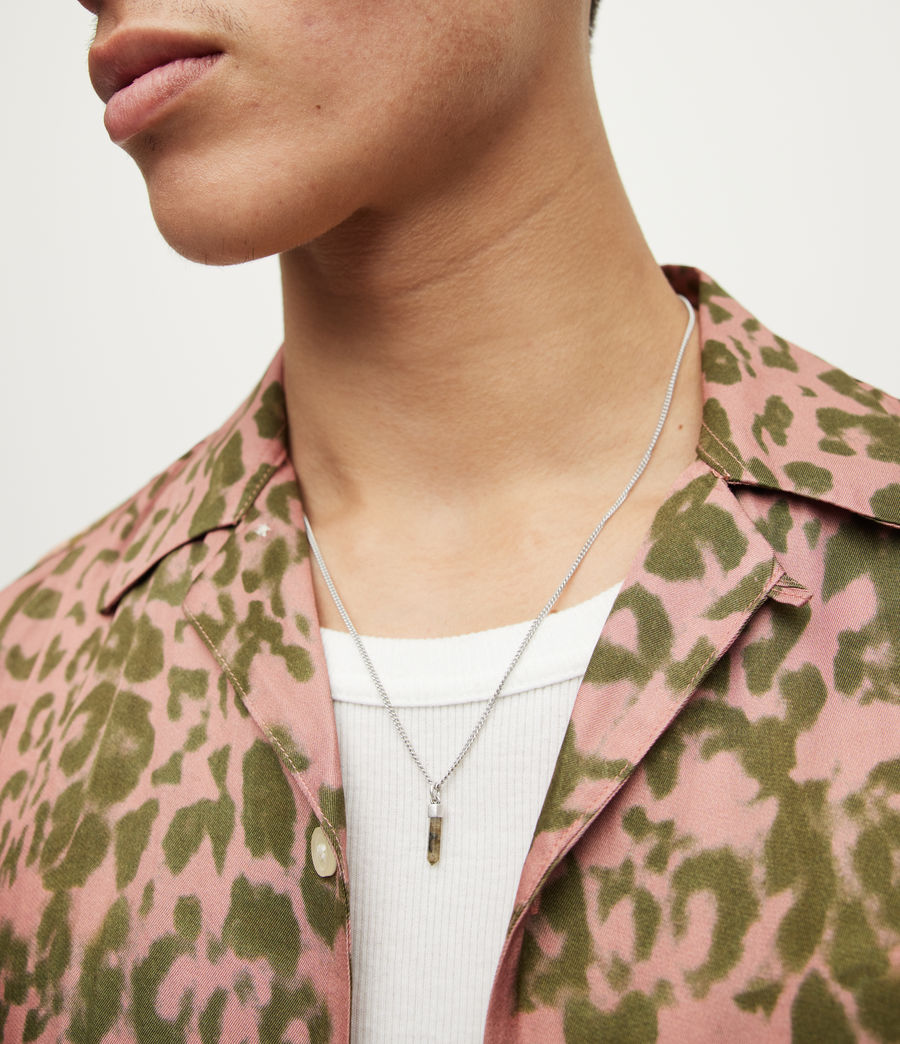 Men's Theo Sterling Silver Necklace (warm_silver) - Image 2