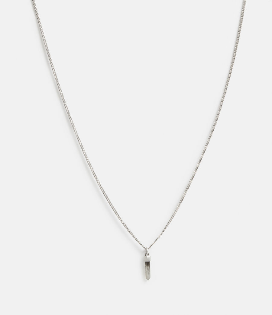 Men's Theo Sterling Silver Necklace (warm_silver) - Image 3