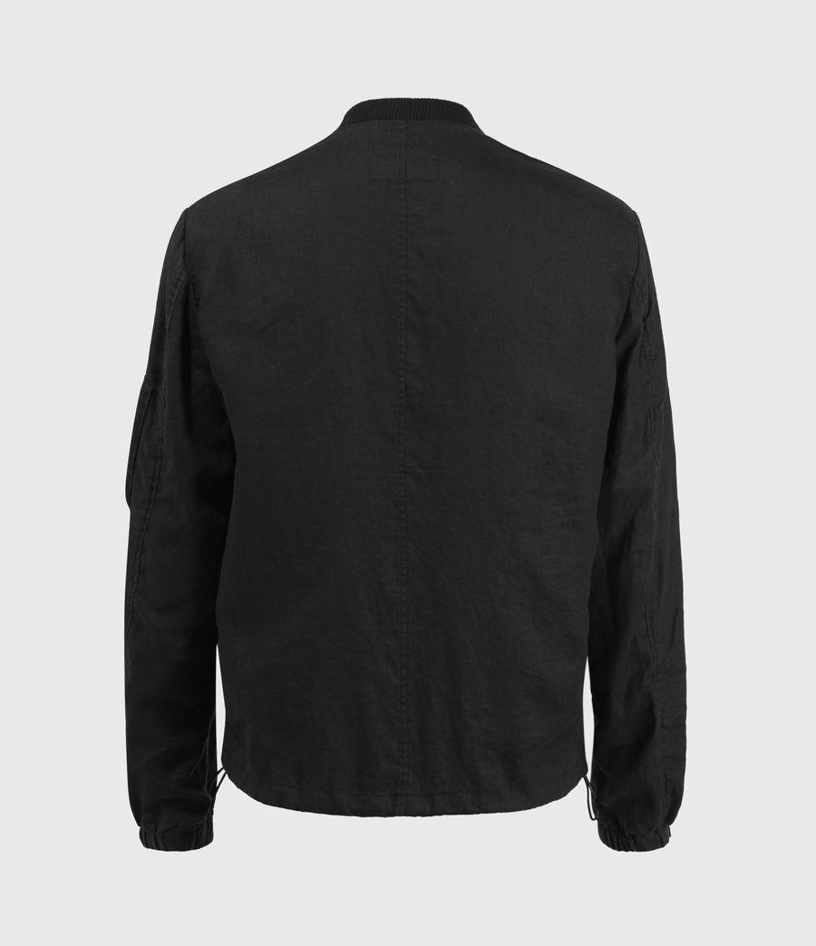 Hombre Borra Linen Bomber Jacket (black) - Image 2
