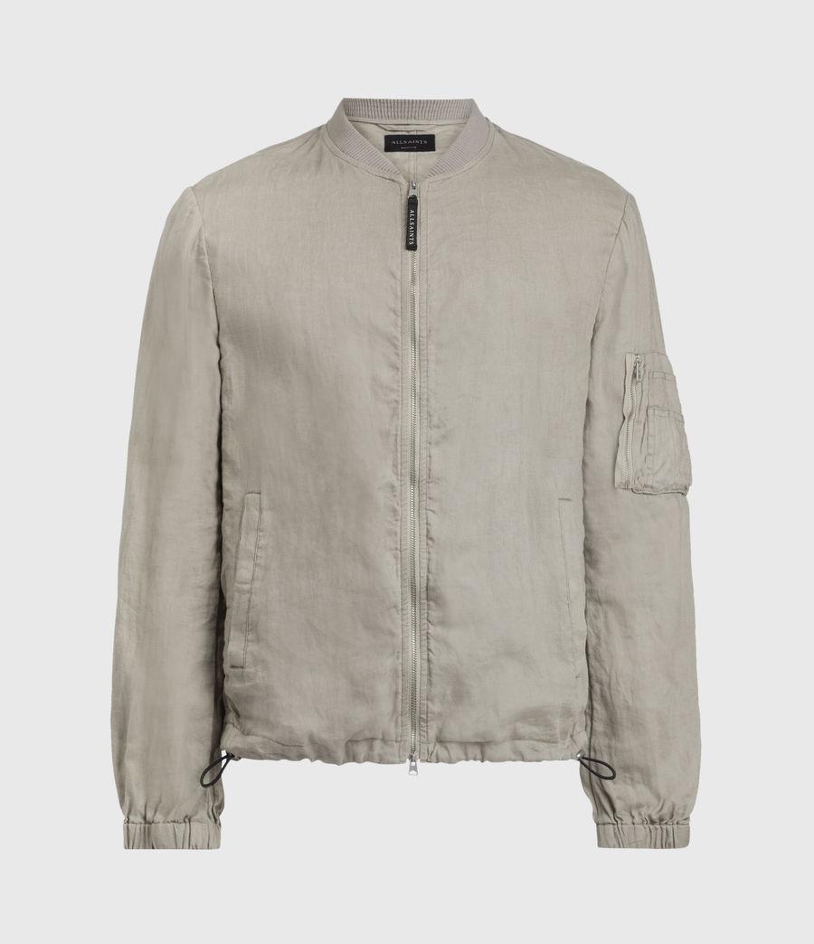 Hombres Borra Linen Bomber Jacket (limestone_taupe) - Image 1