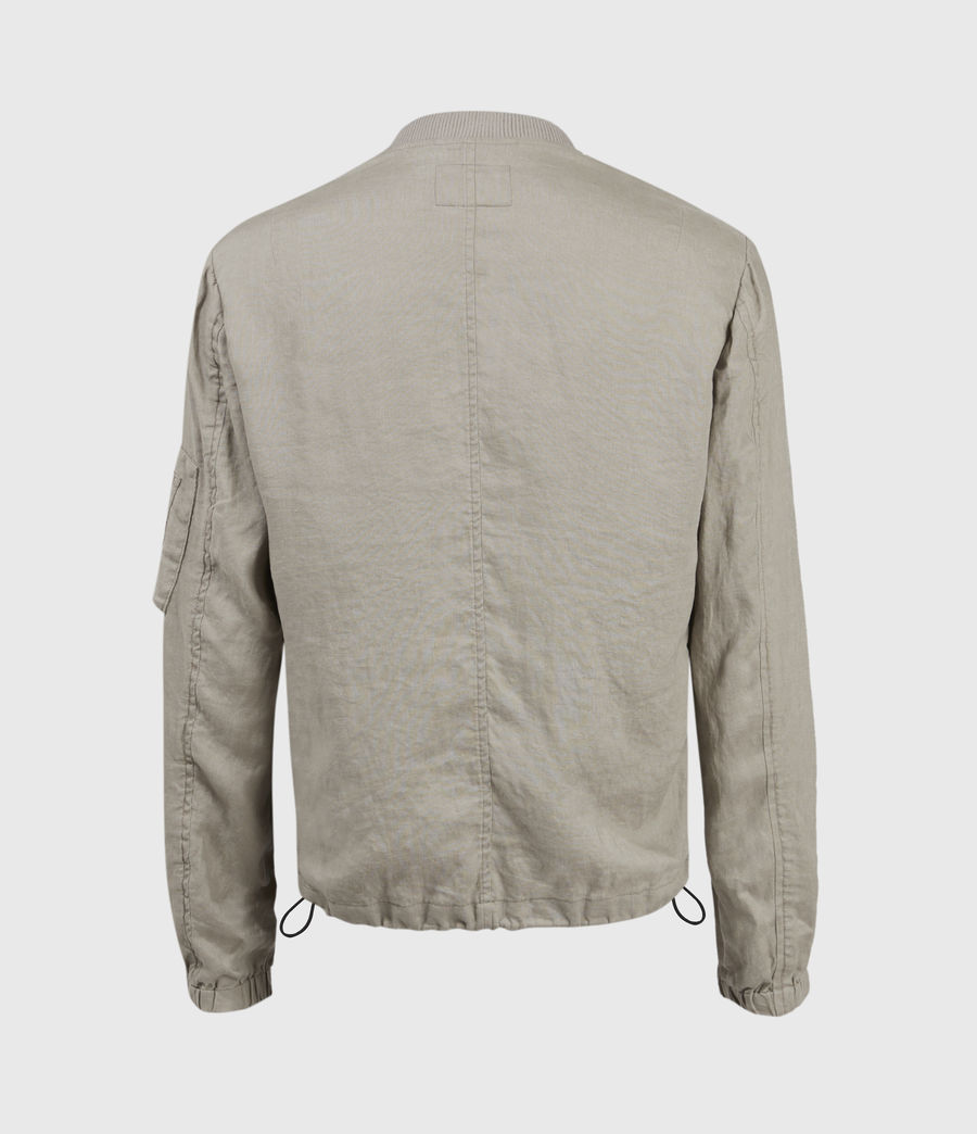 Hombres Borra Linen Bomber Jacket (limestone_taupe) - Image 2