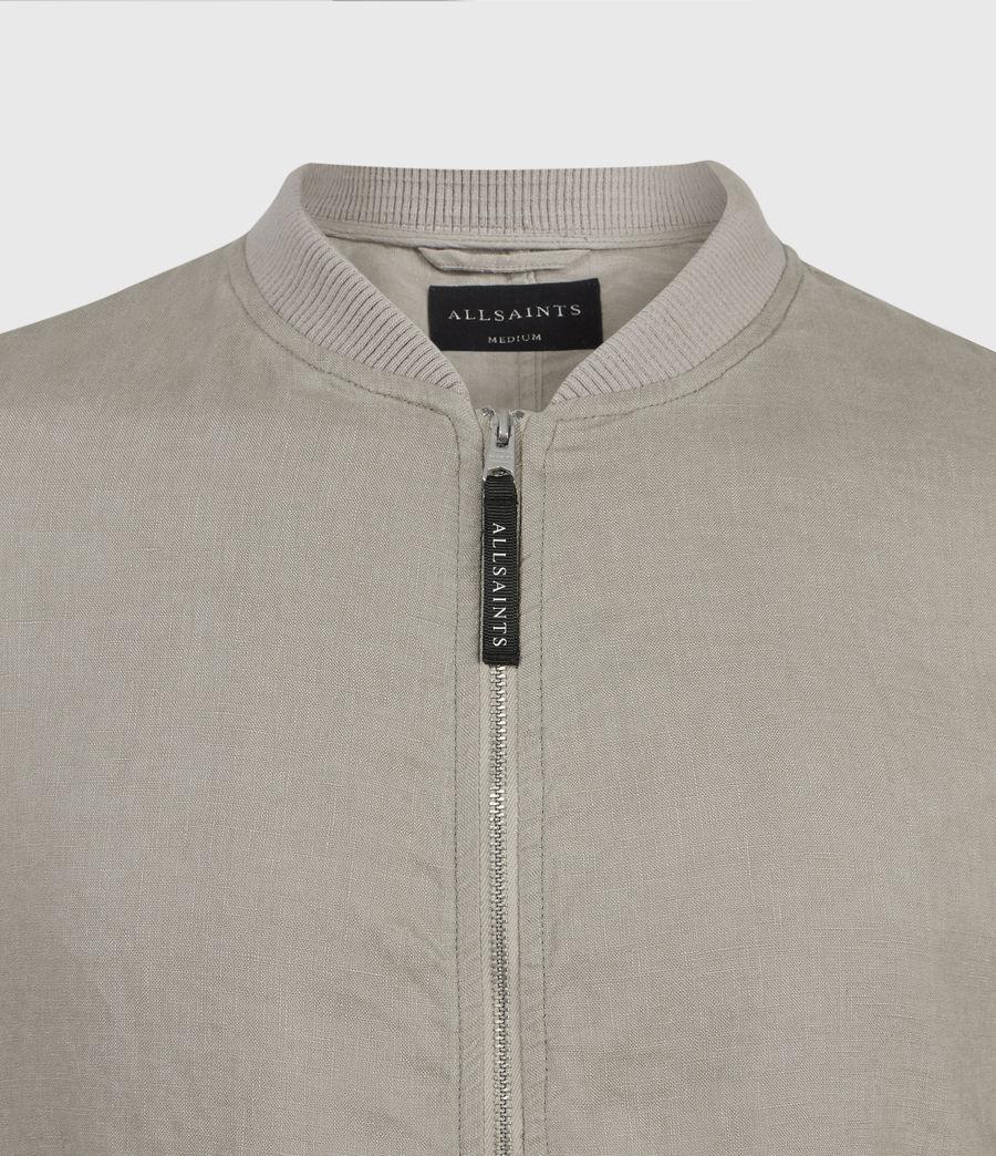 Hombres Borra Linen Bomber Jacket (limestone_taupe) - Image 3