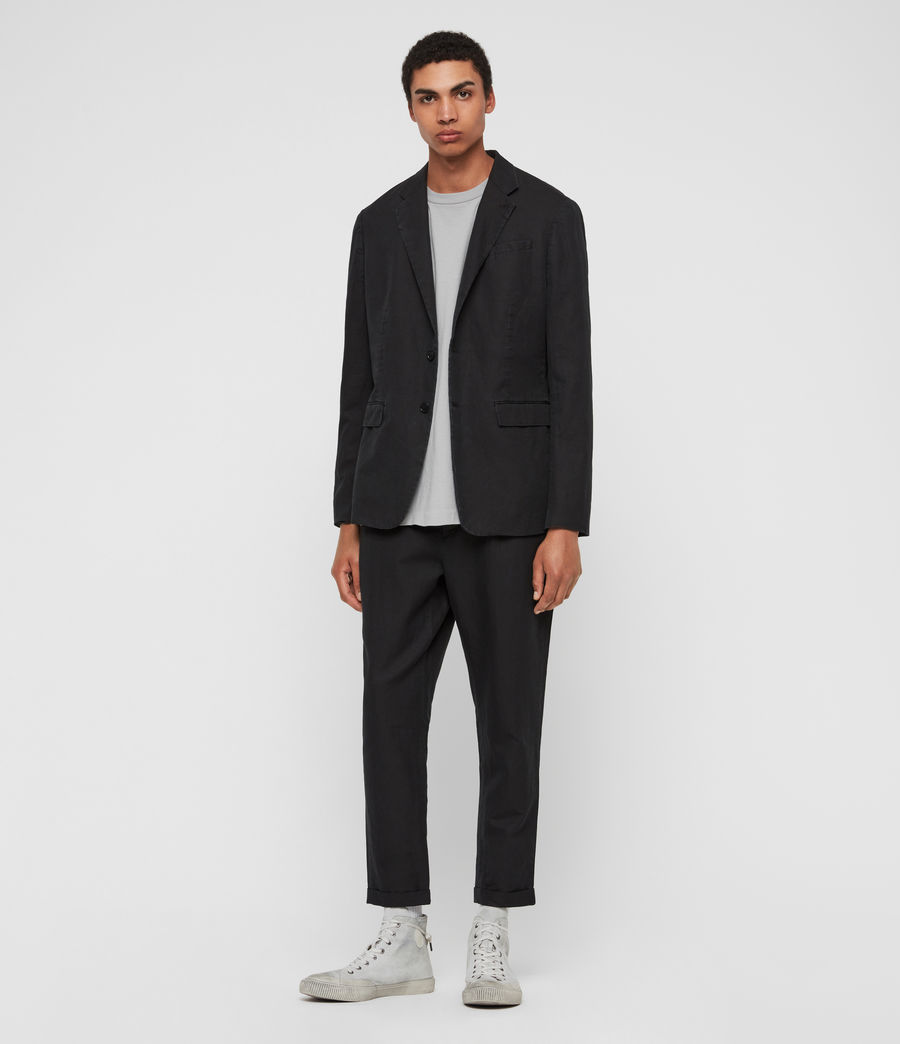 Mens Drayson Blazer (washed_black) - Image 1