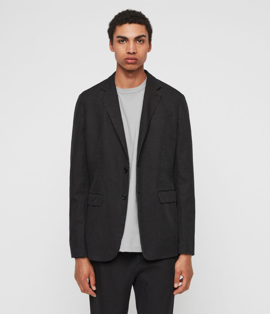 Mens Drayson Blazer (washed_black) - Image 2