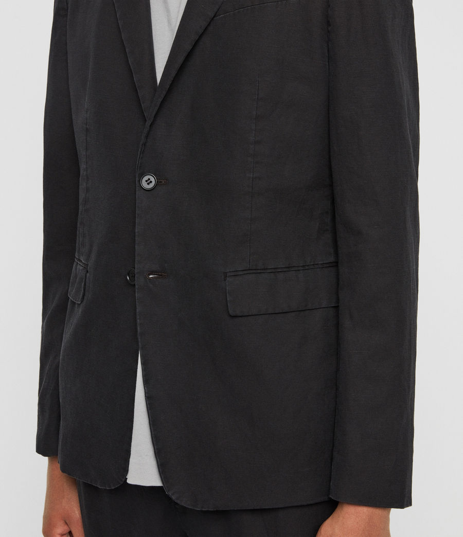 Mens Drayson Blazer (washed_black) - Image 4
