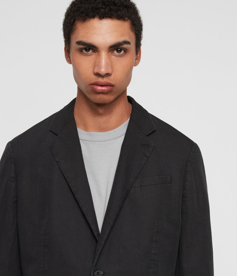 Mens Drayson Blazer (washed_black) - Image 6