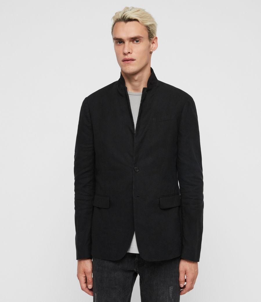 Uomo Blazer Hearn - Slim con colletto in camoscio (black) - Image 1