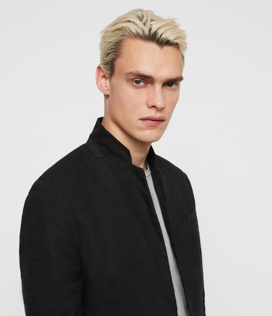 Uomo Blazer Hearn - Slim con colletto in camoscio (black) - Image 2