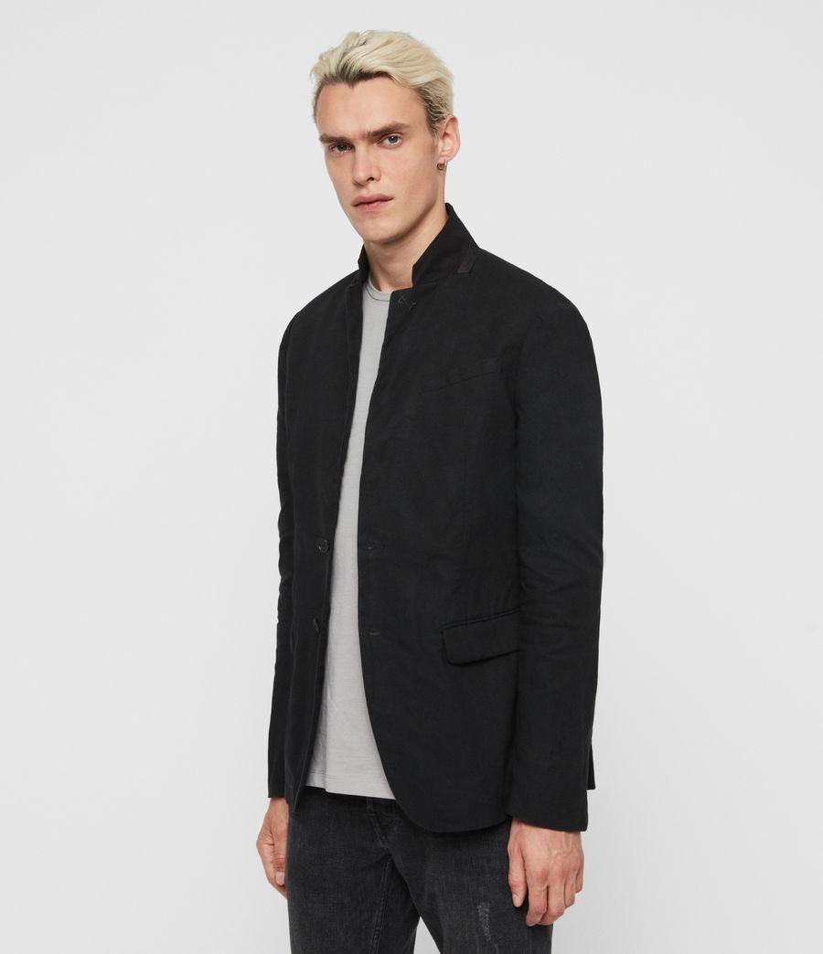 Uomo Blazer Hearn - Slim con colletto in camoscio (black) - Image 3