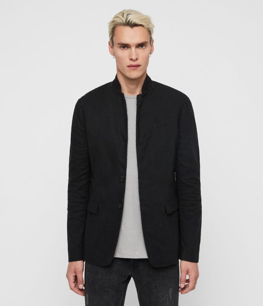 Uomo Blazer Hearn - Slim con colletto in camoscio (black) - Image 4