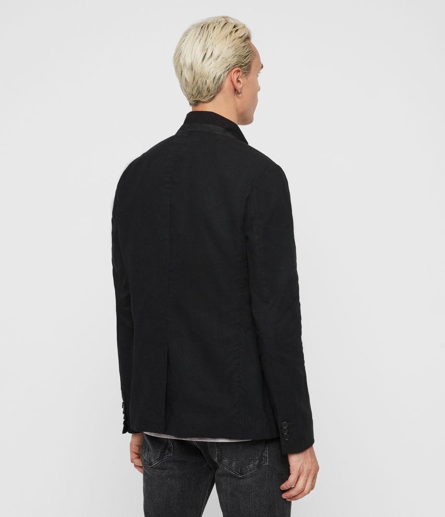 Uomo Blazer Hearn - Slim con colletto in camoscio (black) - Image 5