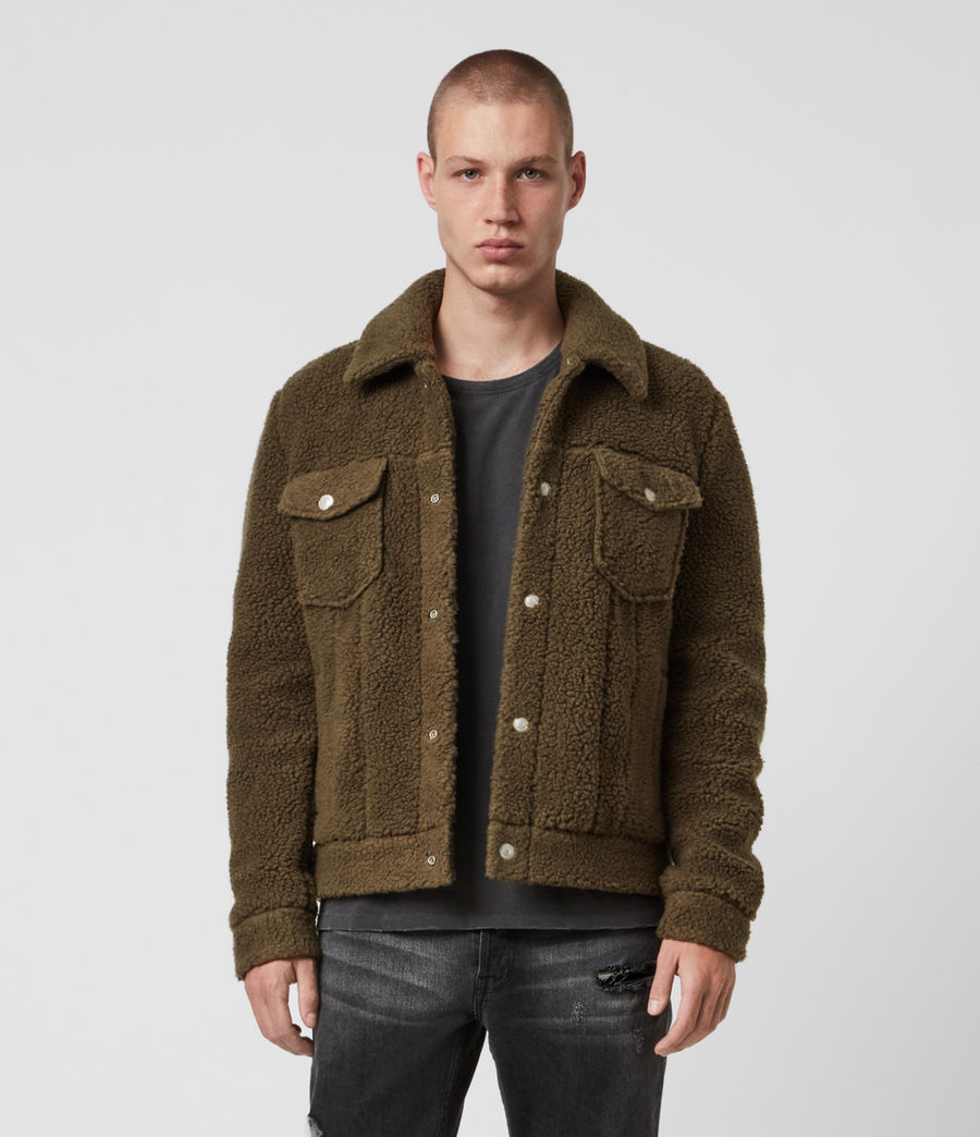 Mens Bevin Sherpa Jacket (ensign_green) - Image 1