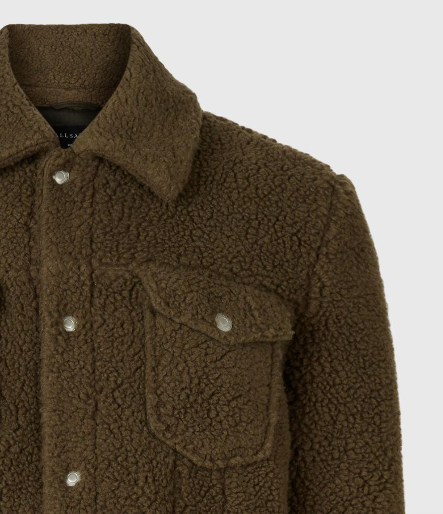 Mens Bevin Sherpa Jacket (ensign_green) - Image 5