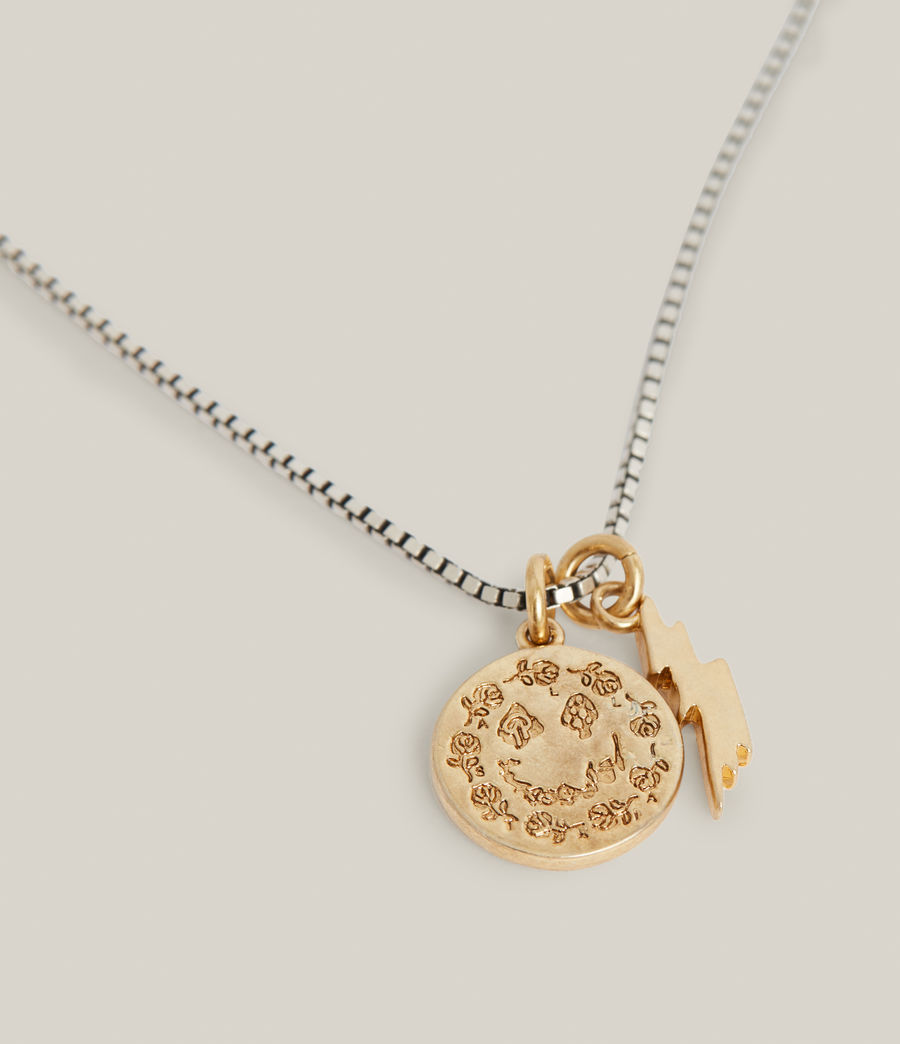 Hommes Enzo Necklace (warm_silver_brass) - Image 1