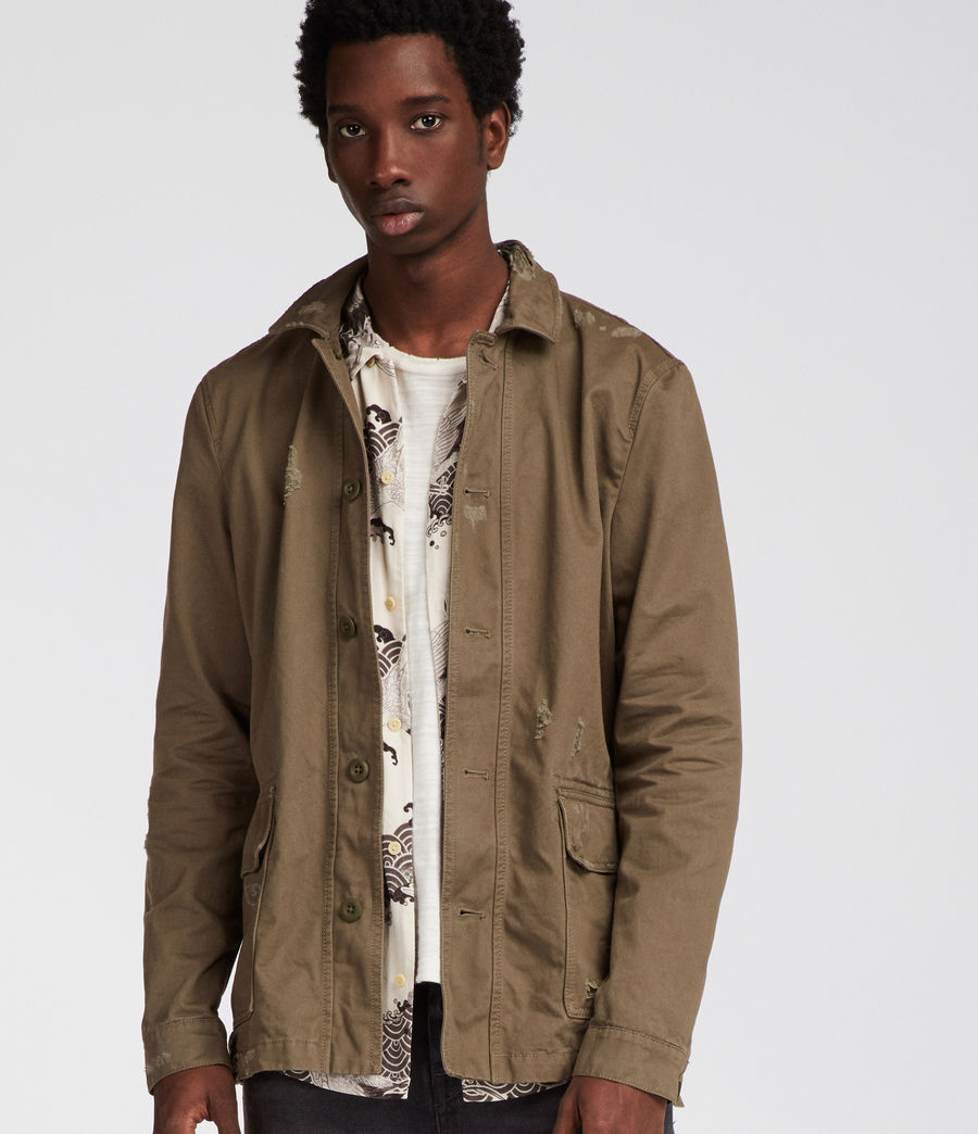 Mens Sasaki Jacket (khaki_green) - Image 4