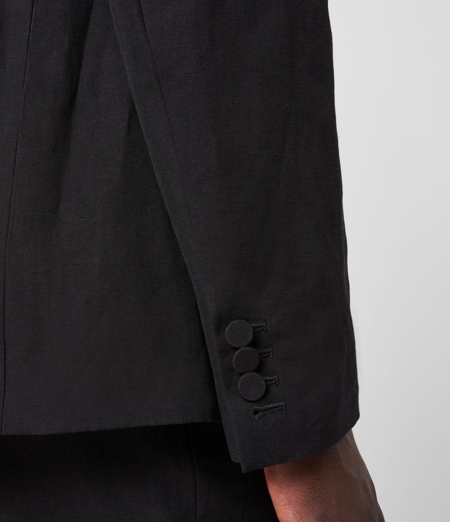 Men's Chiswell Linen Blend Blazer (black) - Image 6
