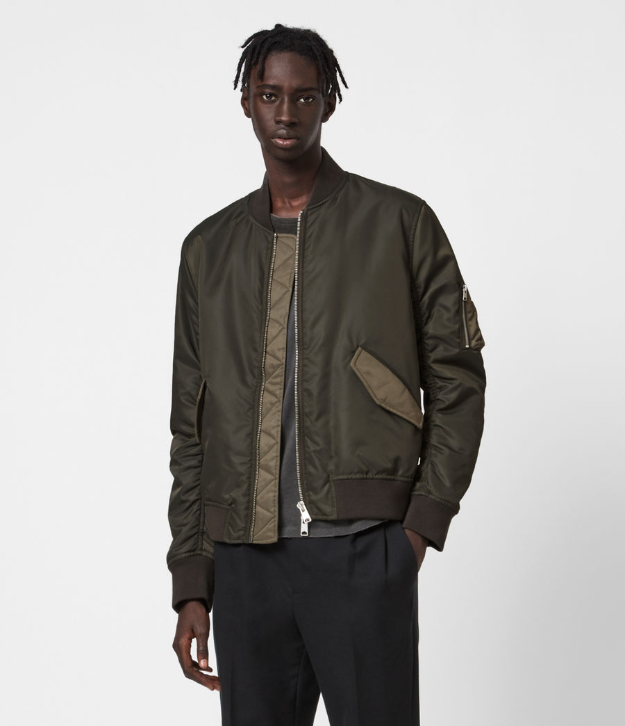 Mens Regulus Bomber Jacket (khaki_green) - Image 1