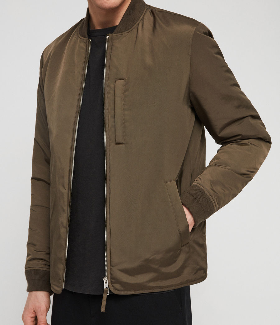 Men's Coot Bomber Jacket (khaki_brown) - Image 2