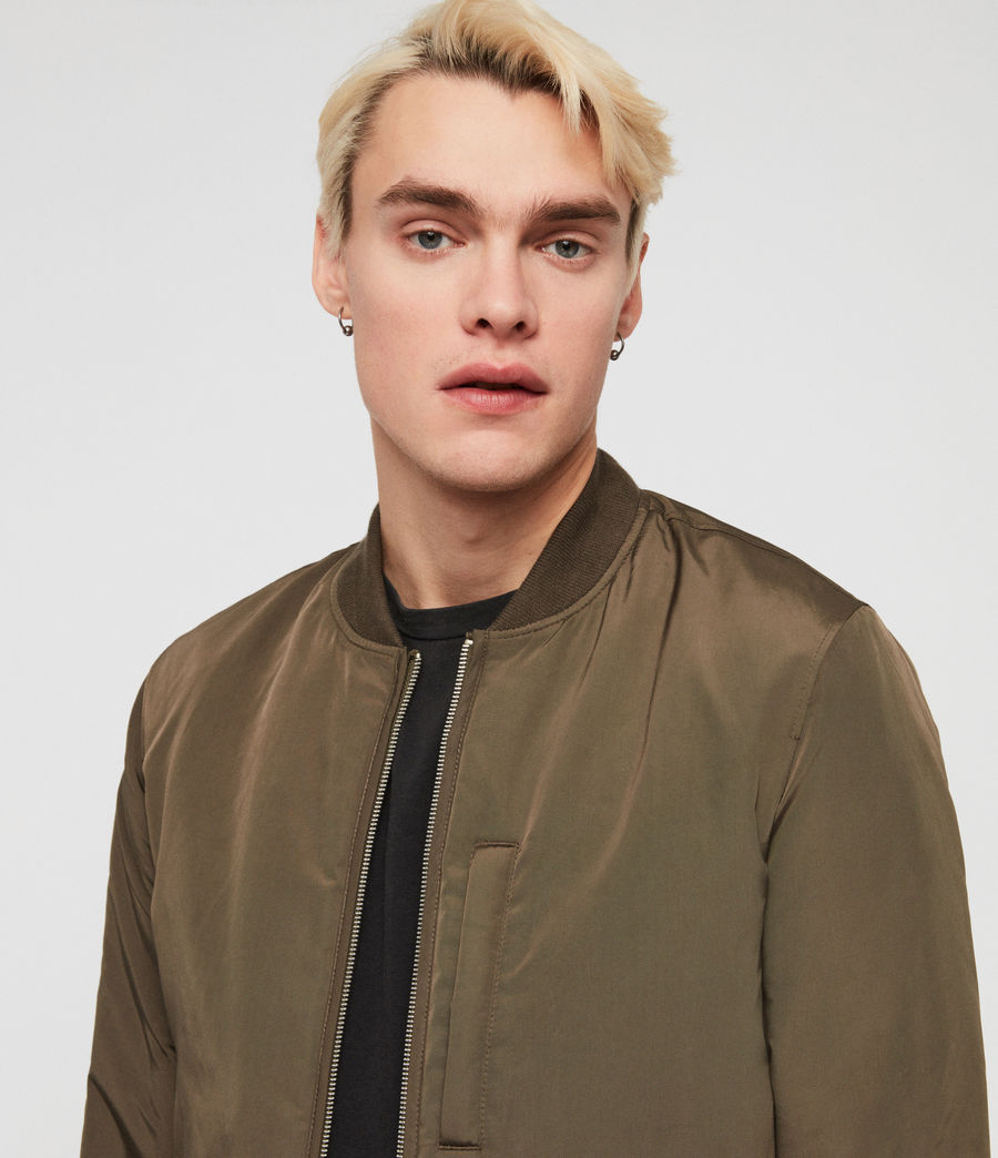 Men's Coot Bomber Jacket (khaki_brown) - Image 4