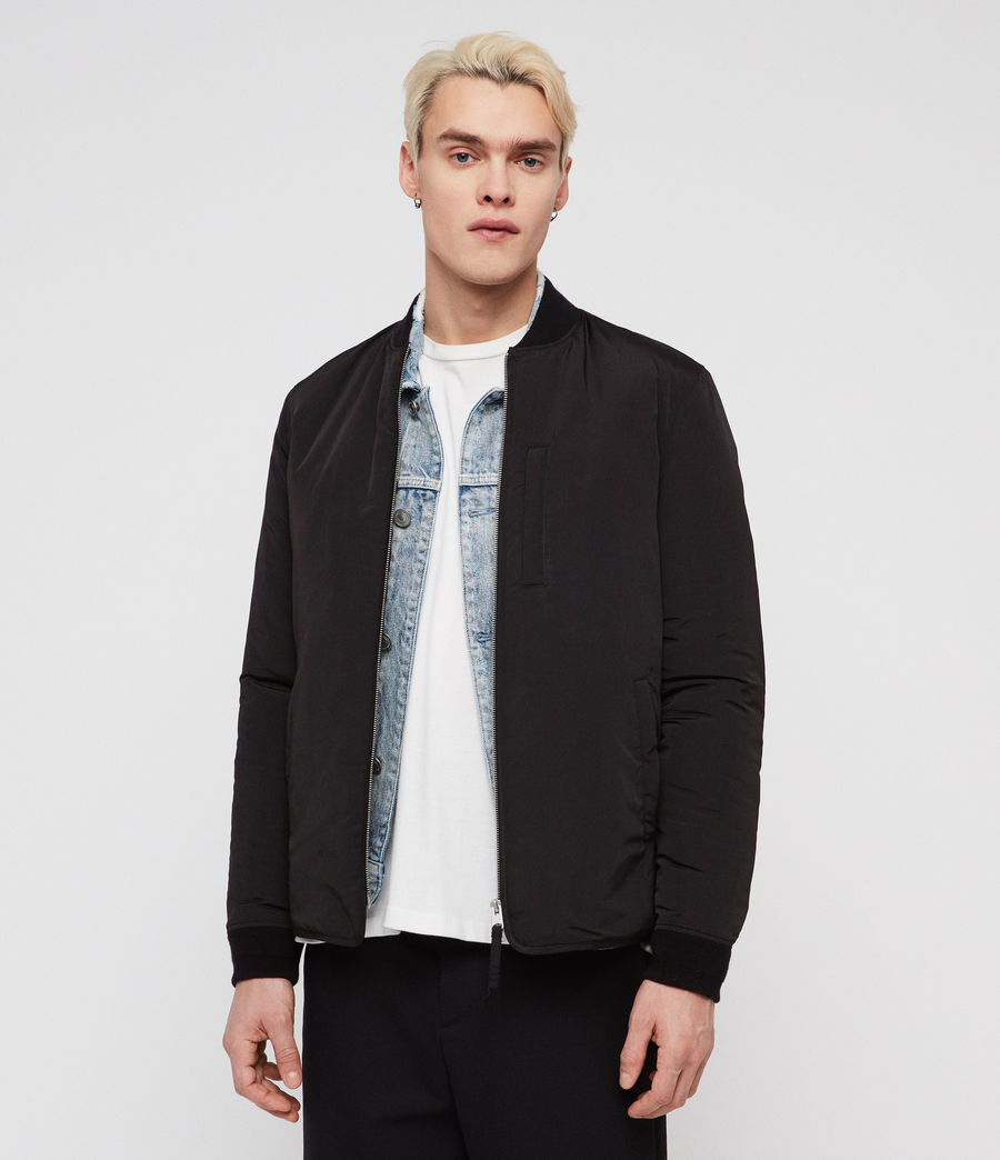 Mens Coot Bomber Jacket (black) - Image 1
