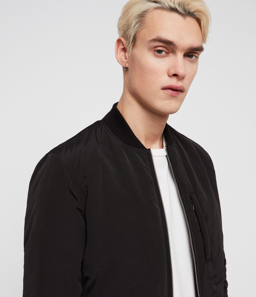 Men's Coot Bomber Jacket (black) - Image 3