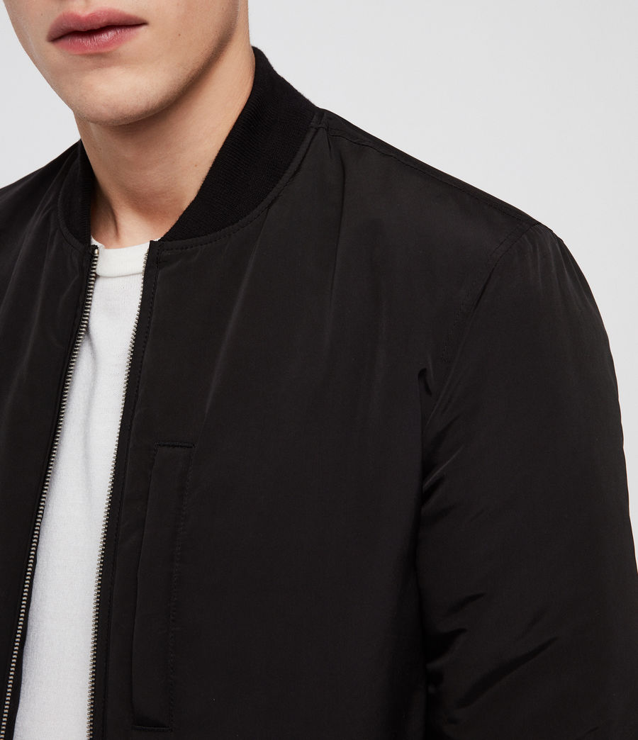 Men's Coot Bomber Jacket (black) - Image 4