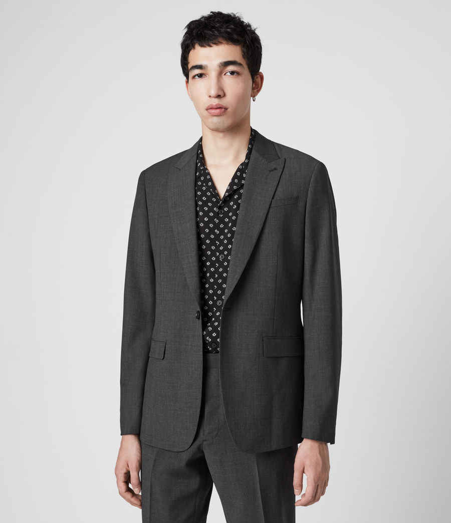 Men's Cleaver Blazer (dark_grey_marl) - Image 1