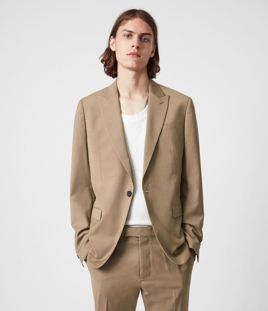 Herren Cleaver Wool Blend Blazer (caenstone_brown) - Image 1