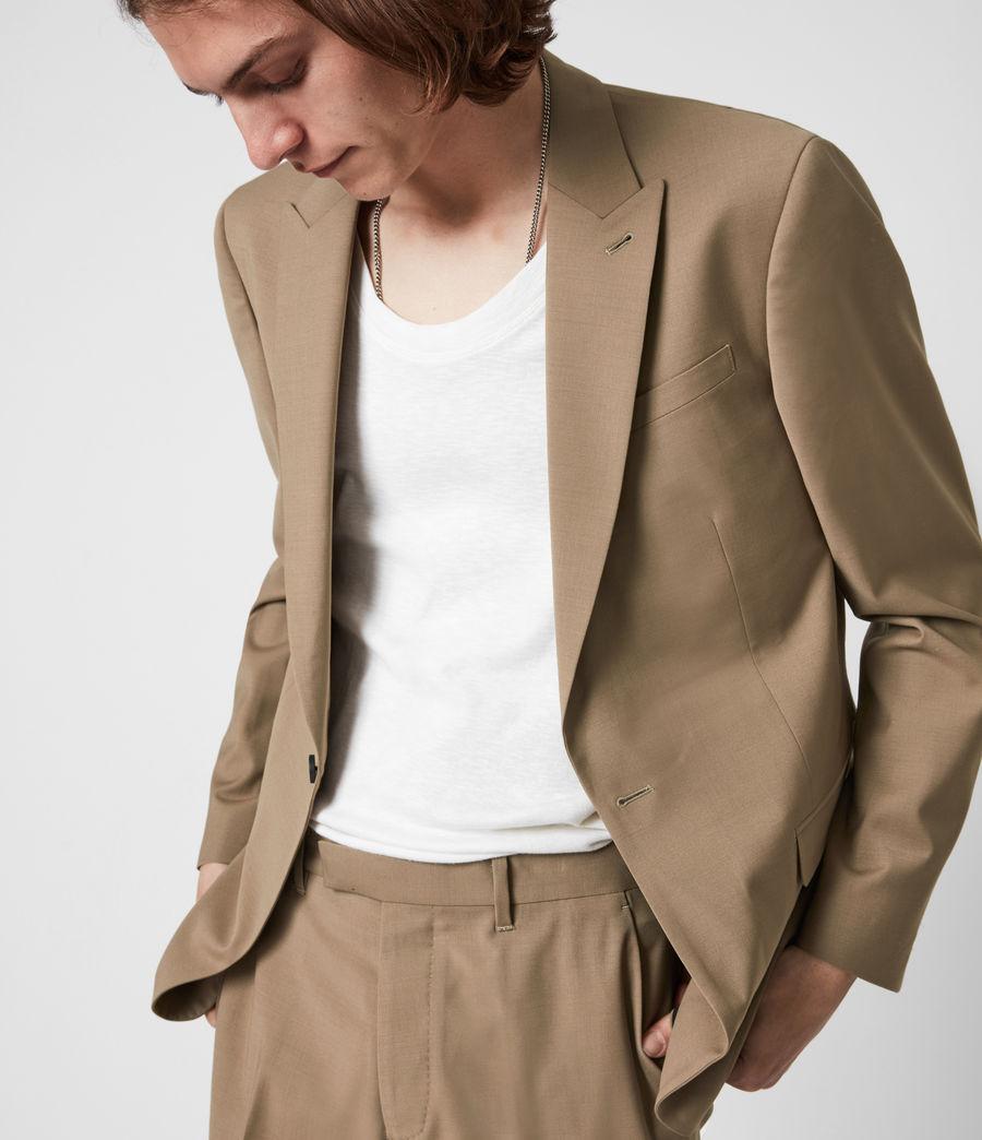 Herren Cleaver Wool Blend Blazer (caenstone_brown) - Image 4